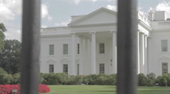 White House close up Stock Footage