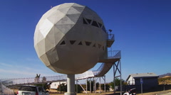 Unique Geodesic Ball Home Close Up- Yucca Arizona - stock footage
