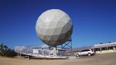 Unique Geodesic Ball Home- Yucca Arizona - stock footage