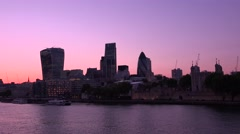 ULTRA HD 4K time lapse shot,The City of London Financial District at sunset Stock Footage