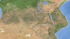 Zambia on maps - Do It Yourself as you like. Neighbourhood Stock Footage