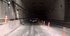 Exiting the Lincoln Tunnel into New Jersey Stock Footage