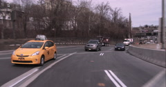 Driving around the helix after exiting the Lincoln Tunnel - stock footage