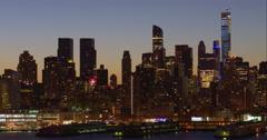 Timelapse of the Columbus Circle area of the midtown Manhattan skyline Stock Footage