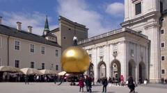 4K footage of the Capital Square in Salzburg, Austria Stock Footage