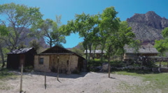 Historic Ranch House & Sheds- Spring Mountain Ranch State Park Stock Footage