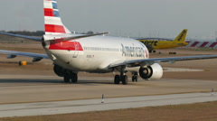 American Airlines airplane 4K Stock Footage