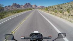Motorcycle POV Red Rock National Conservation Area- Las Vegas NV Stock Footage