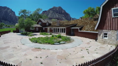 Modern Ranch House- Spring Mountain Ranch State Park Stock Footage