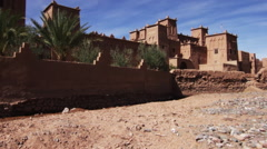 Tilt up exterior of a Moroccan village Stock Footage