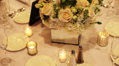 Decorative centerpiece at wedding - stock footage