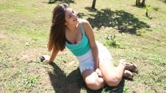 Young Brazilian woman Stock Footage