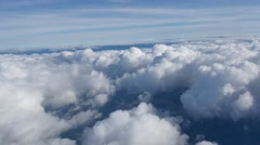 Aerial View Above Puffy Clouds Stock Footage