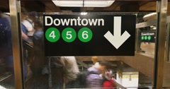Busy New York City Subway Station Time Lapse - stock footage