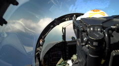 POV fighter plane cockpit Stock Footage