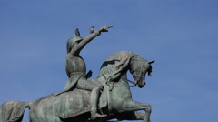 Statue of San Martin Stock Footage