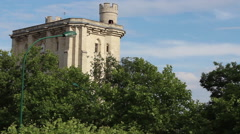 Top of french castle 'Chateau de Vincennes' - stock footage
