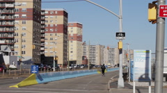 Apartment complexes near Rockaway Beach Stock Footage
