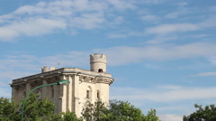 Stock Video Footage of Top of french castle 'Chateau de Vincennes'