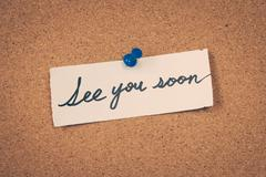 Stock Photo of see you soon