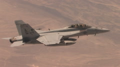 Fighter jet in flight - stock footage