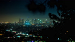 Downtown Los Angeles Timelapse With Tree Branch Shadow - stock footage