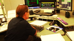 Emergency dispatchers on the phone Stock Footage