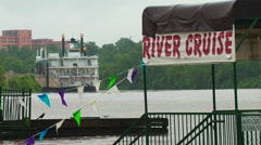 Red River Floods in Shreveport, Louisiana Stock Footage