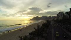 Ipanema, Rio de Janerio aerial Stock Footage