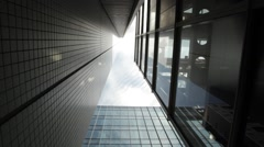 Low angle view of office building area, Tokyo, Japan Stock Footage