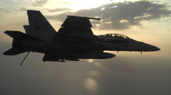 Stock Video Footage of U.S. fighter jet in flight