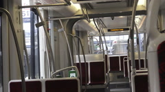 Interior of a New Toronto Streetcar Stock Footage