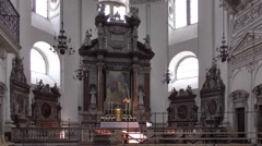 Interior of the Salzburg Cathedral in Salzburg, Austria Stock Footage