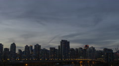 Vancouver - Twilight Skyline - Pan - 25P - ProRes 4:2:2 10 Bit - UHD 4K Stock Footage