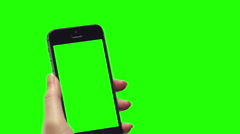 Smart phone green background with blank green screen Arkistovideo
