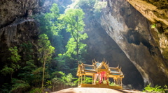 Phraya Nakhon Cave with sunlight and temple timelapse Stock Footage