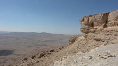 Wild desert landscape of Ramon Crater Negev desert , Israel - stock footage