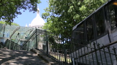 Stock Video Footage of Funicular to Sacre Coeur