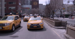 Driving on Park Avenue near Union Square in Manhattan Stock Footage