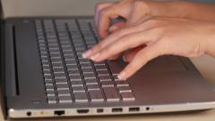 Hands typing on a keyboard Arkistovideo