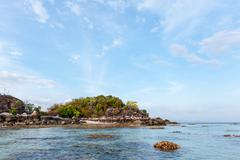 BLUE SEA at Lipe Island, Thailand. Stock Photos