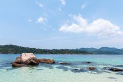 BLUE SEA at Lipe Island, Thailand. - stock photo