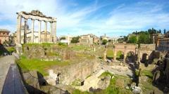 Roman Forum in Rome, Italy - stock footage