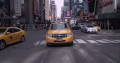 Stock Video Footage of Driving through Times Square in Midtown Manhattan