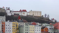 Veste Oberhaus fortress in Passau, Bavaria, Germany Stock Footage