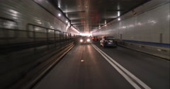 Driving through the Lincoln Tunnel out of Manhattan and into New Jersey - stock footage