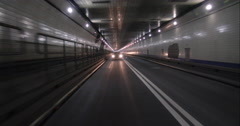 Driving through the Lincoln Tunnel out of Manhattan and into New Jersey Stock Footage