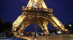 Paris at night Stock Footage