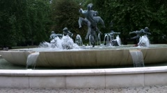 Stock Video Footage of A Fountain With Cherubs