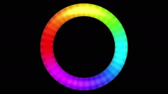 Rotating Rainbow Button, Seamless Loop Stock Footage